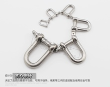 1PCS/lot  YT523b  M5  304 Stainless Steel Type D Shackle Bow Shackle Quick-Release Fastener  Load-bearing 80KG Free Shipping
