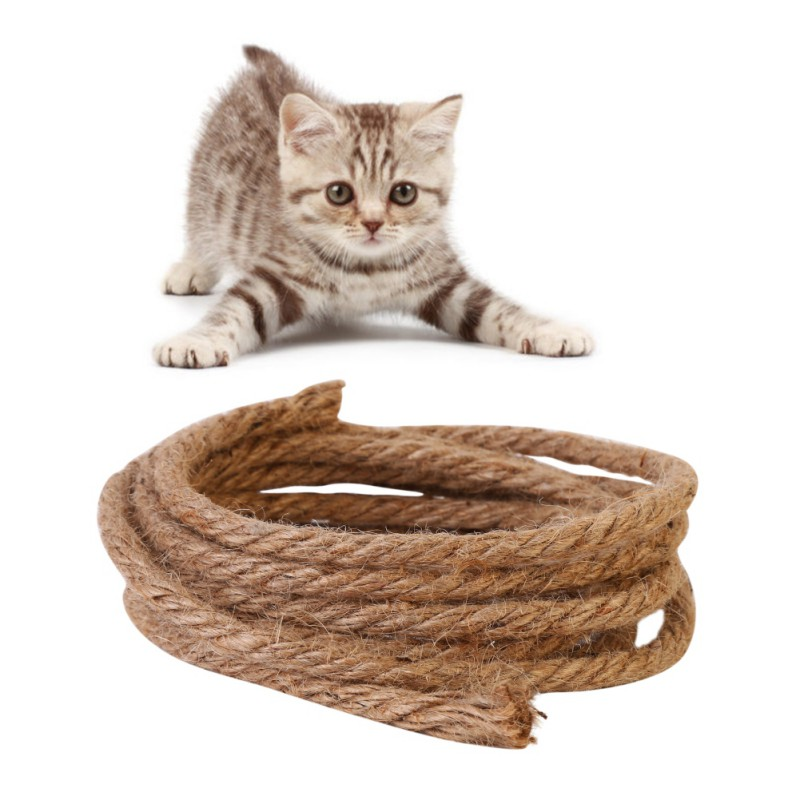 All Natural Durable Cat Scratching Post Toys Replacements Sisal Rope Cat Toys Pet Cat Supplies For Gatos