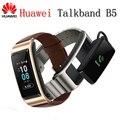 2018 nuevo Huawei TalkBand B5 banda de conversación Bluetooth Smart Bracelet Wearable Sports pulseras Touch AMOLED pantalla llamada auricular banda