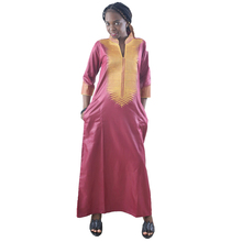 MD womens african bazin dresses traditional south africa ladies clothes long dress with headwrap wedding