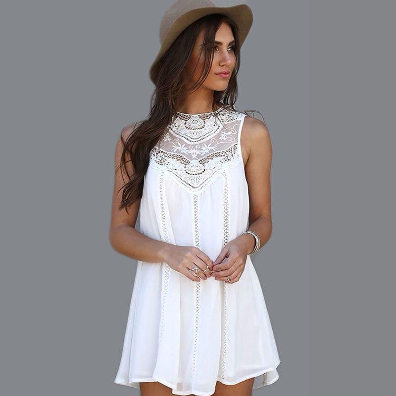 9e88249e91d9 € 13.13 24% de DESCUENTO|Nuevo vestido de verano de 2019 para mujer, de  línea a Vestido de playa, sin mangas, vestidos delgados para mujer, ropa ...