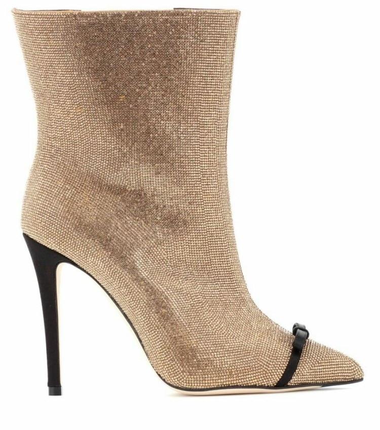 Bowtie Chaussures Bling Zapatos leather Haute Botas Super Marque De Mujer Bota Talon Inside Couleur Mixte Bottes Feminina D'hiver flock Inside Inside Leather Cuir Femmes wIwrRqa4t