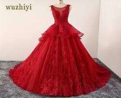Wuzhiyi vestidos de novia бальное платье Свадебные платья 2017 на заказ большие размеры robe de mariée свадебное платье vestidos de noiva