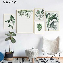 Watercolor Plant Leaf Canvas Poster Nordic Wall Art Print Scandinavian Decoration Painting Decorative Picture Home Room Decor