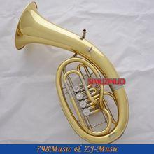 Профессиональный Золотой поворотный Bb ключ euphonium белый медный цилиндр с рогом чехол