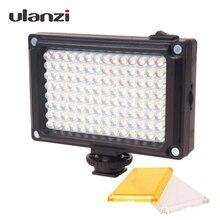 Ulanzi 112 LED telefon lampa wideo oświetlenie fotograficzne dla Youtube przekaz na żywo lampa LED z możliwością ściemniania bi color temperatura dla iPh