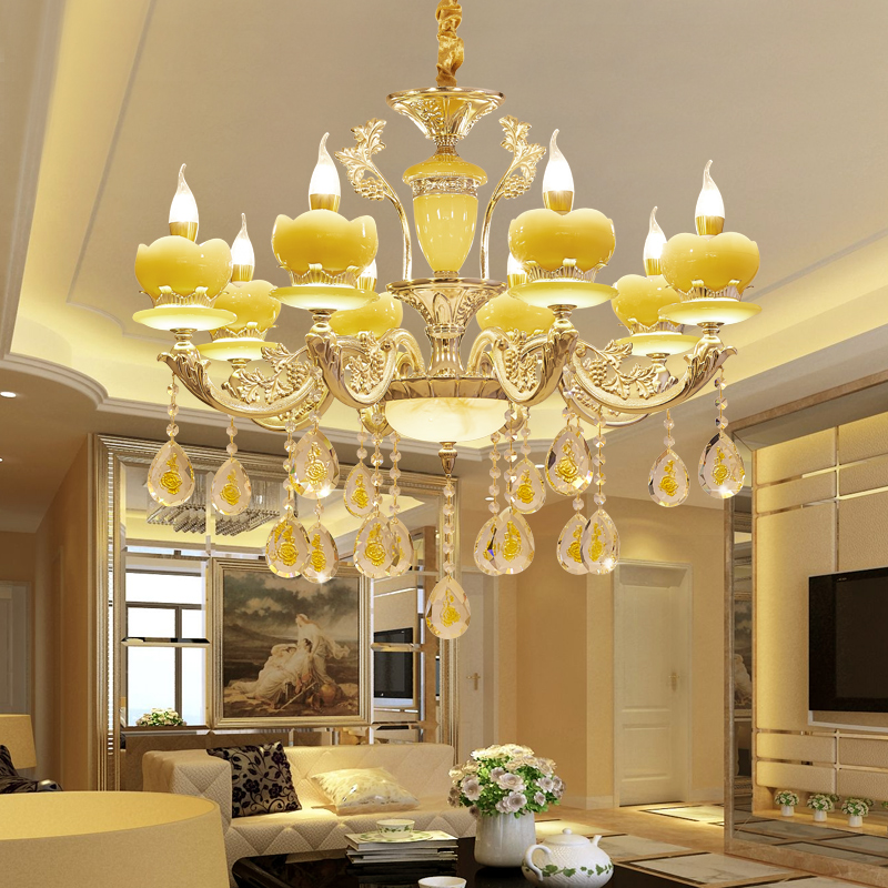 uropean crystal chandeliers jade living room dining room bedroom aisle floor lampuropean crystal chandeliers jade living room dining room bedroom aisle floor lamp