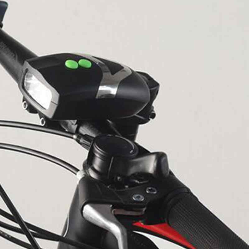 459c93d1c00 ... 3 LED Bike Bicycle Light Cycling Front Head Light Lamp And Electronic  Bell Horn Waterproof ABS ...