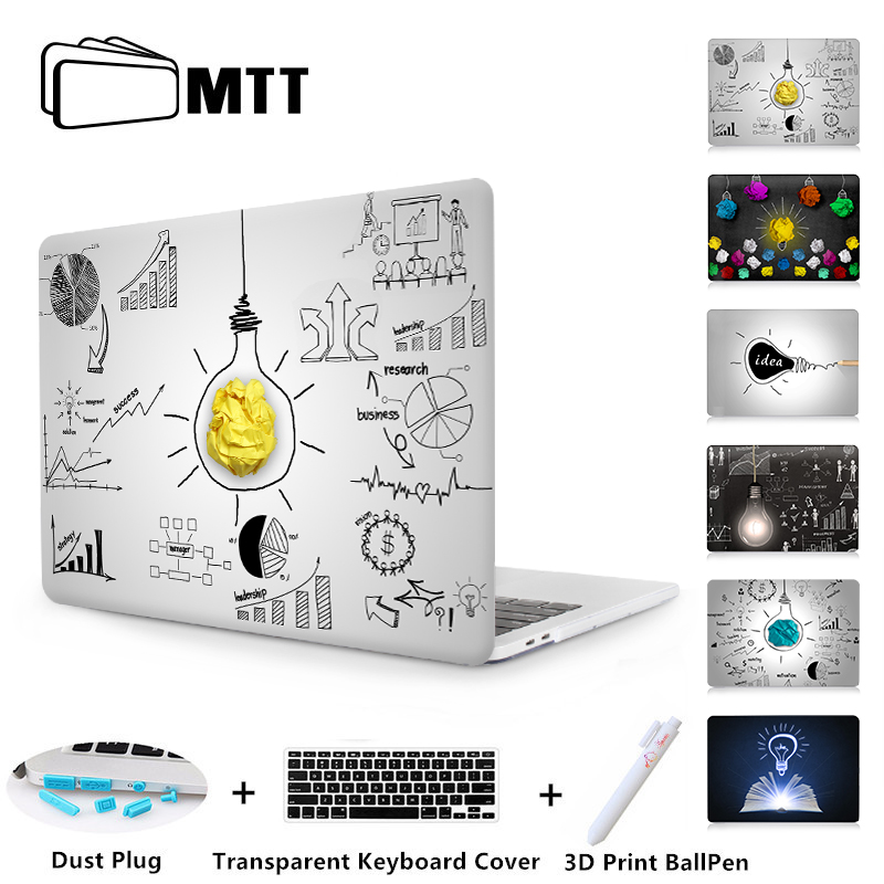 MTT Laptop Sleeve For Macbook Air Pro 11 12 13 15 Retina With Touch Bar Light Bulb Print Case For Apple Mac book 13.3 inch Cover спот citilux cl531521