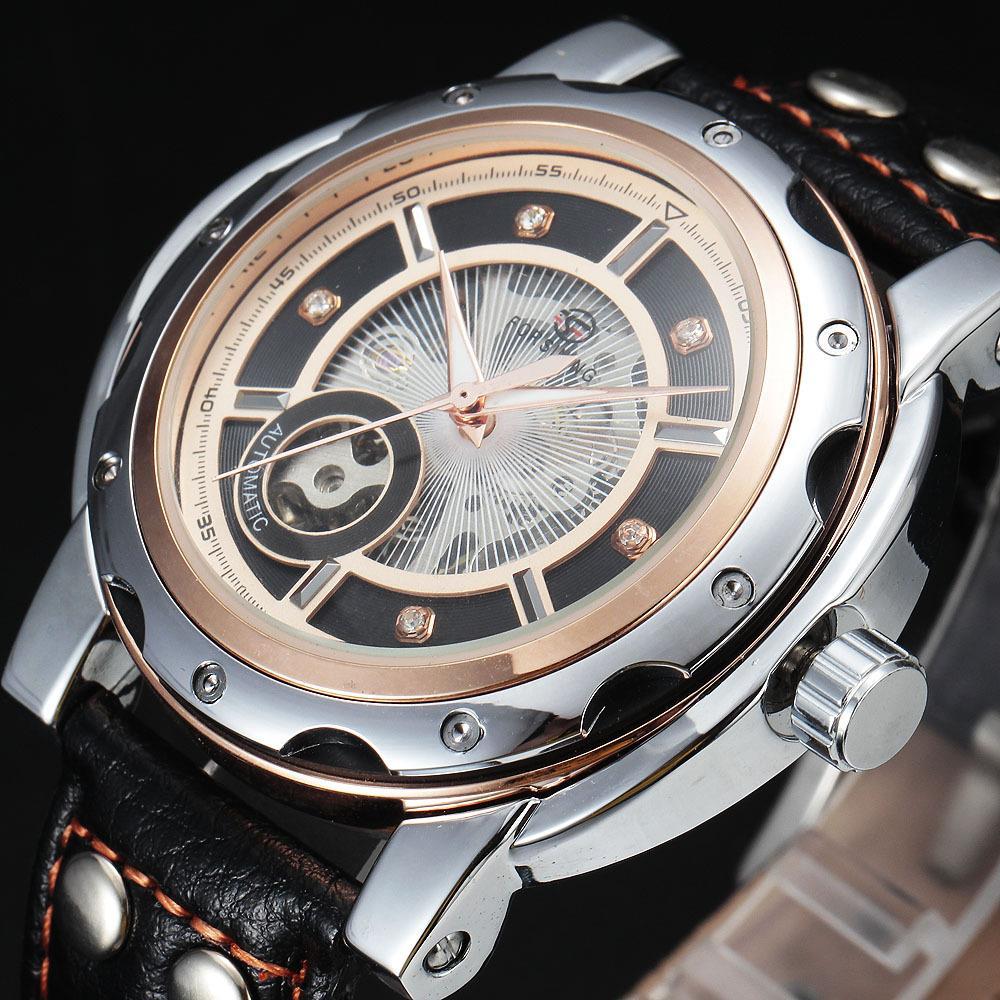 FORSINING Sportovní diamantový styl Malý ciferník Konstrukce - Pánské hodinky