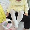 Mamimore Hueco de Malla de Algodón Grandes PP Bebé Medias de Rayas Verticales Pantimedias Séptimo SpringAutumn Bebé Recién Nacido Medias Infantiles