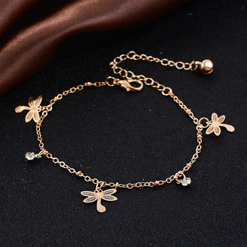 QCOOLJLY 17 видов животных Бабочка Цветок Кулон ножной браслет на ножная цепочка пляж лодыжки браслеты для женщин Девушка ювелирные изделия