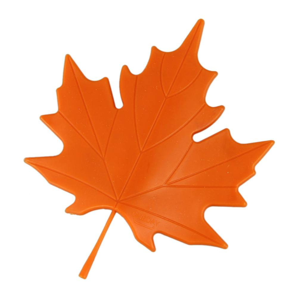 New 2pcs Lot Orange Red Novelty Autumn Maple Leaf Bathroom Door Stopper Stops Holder Resistance Accessories In Sets From Home