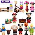 LELE 37005 de Dibujos Animados de Mickey Minnie Donald Duck Daisy Tinker Bell Super Heroes Bloques de Construcción de Ladrillos de Mini Muñecas Juguetes Para Niños