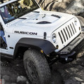 "2pcs Sport Engine Hood Fender Side ""Rubicon"" character Sticker Decal Vinyl for Jeep Wrangler Unlimited TJ JK Free Shipping"
