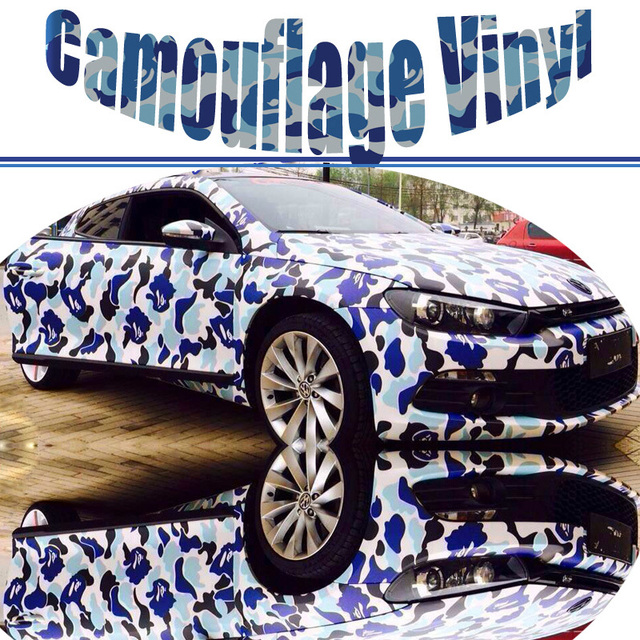 1 5230m roll blue camouflage vehicle wrap army camo vinyl graphics full body car