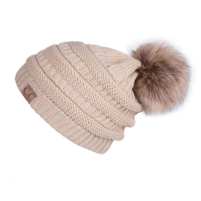 Famous Brand Women s Hat Winter Knitted CC Beanie Wool Solid Color Hip-Hop  Skullies Beanies 26c25be14ce