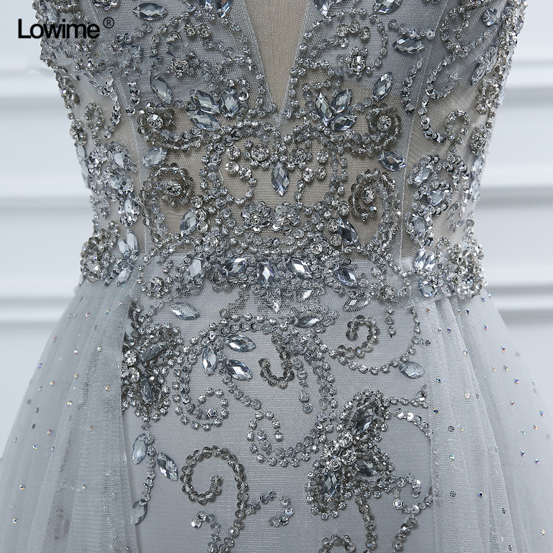 Sexy arabe Long Elie Saab cristal formelle soirée Robe De bal turc Abiye robes De soirée robes Robe De soirée Galajurk - 5