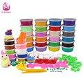24 cores diy suave polymer modelagem barro set com ferramentas de ar-secas bom pacote fimo effect blocos brinquedos especiais presente para as crianças