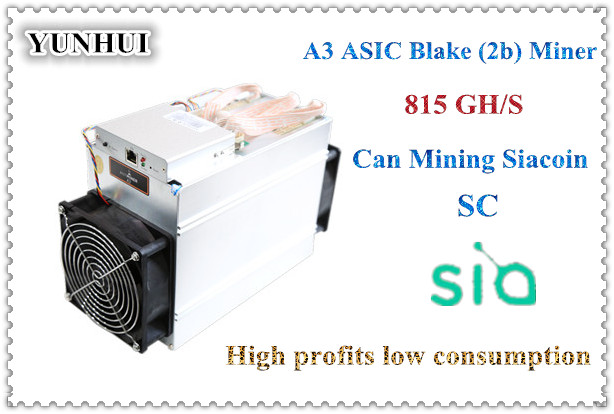US $248 0 |free shipping newest Blake(2b) Siacoin ASIC Miner Antminer A3  815GH/s high profit low consumption from Bitmain-in Block Chain/Miner from
