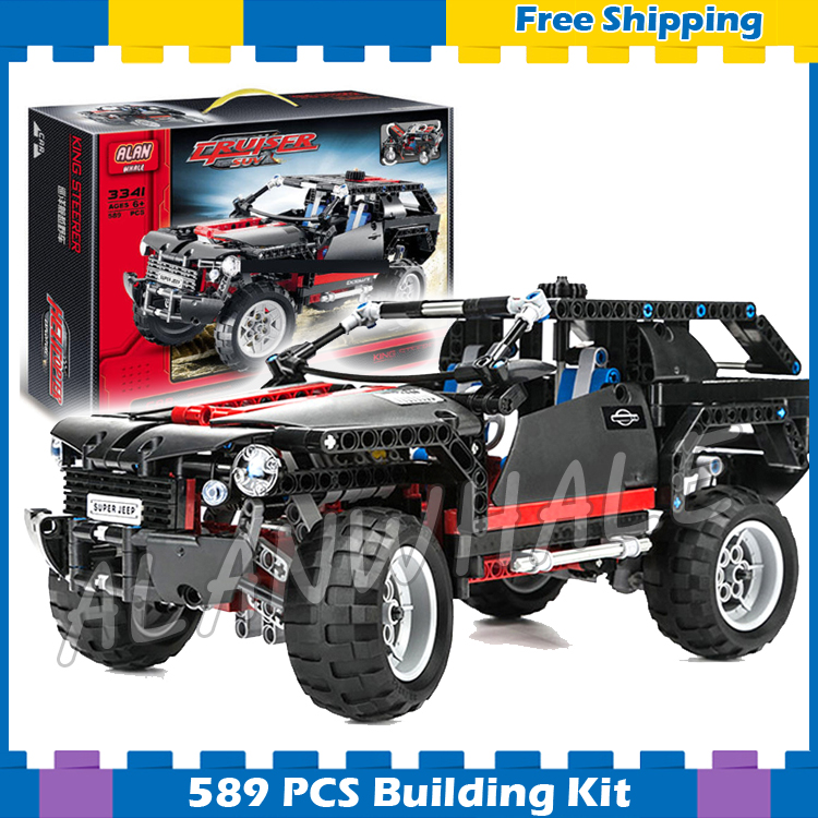 589pcs 3341 Technic Extreme Cruiser Off-Roader Model Building Kit Cars Wheel Blocks Gifts sets Toys Bricks Compatible With lego lepin 20030 1132pcs technik ultimate off roader cars legoingly 8297 sets building nano block bricks toys for boy gifts