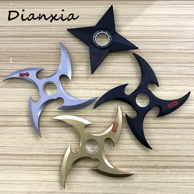 Naruto Rotating Shuriken Spinner Ninja Weapon Props Toy