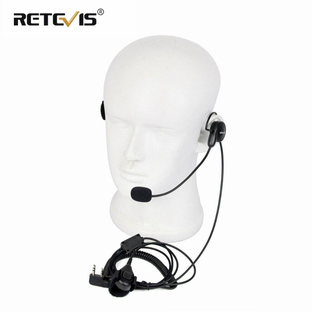 2 PIN PTT Mic Headphone Headset RETEVIS for KENWOOD RETEVIS BAOFENG UV5R 888S