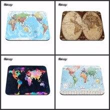 Impressão de luxo Mapa Do Mundo 2017! Moda Dest Computador Gaming Mouse Pad para o Tamanho 18*22 cm e 25*29 cm Tapetes de Rato Decorar Sua Mesa