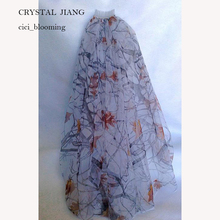 Cut Edge Bridal Veils True Timber White Camo Veil