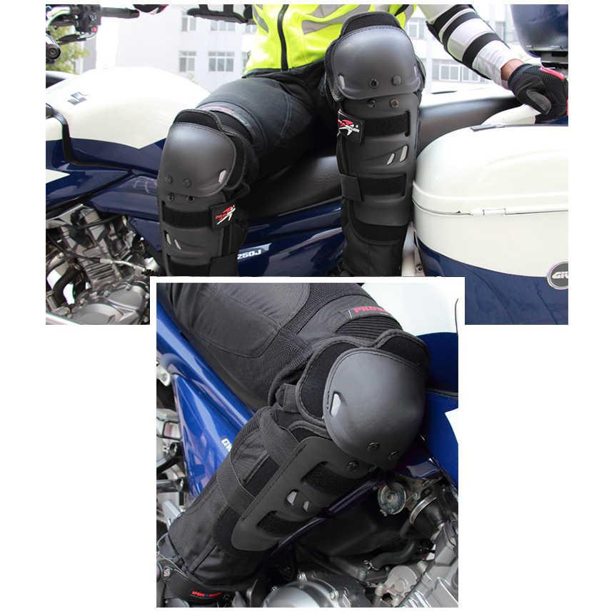 Equitação da motocicleta Joelheiras Motocross Protective Engrenagens Mãos e Leg Guards 2 2 Joelho proteção Cotovelo