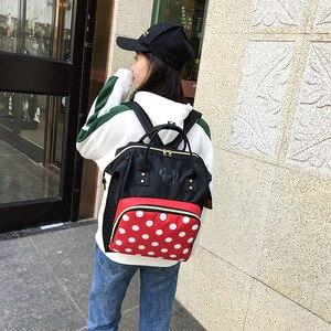 Image 3 - 2019 nouveau sac à dos Disney Mickey mouse Minnie voyage couple toile sac à bandoulière grande mère sac résistant à lusure étudiant sac