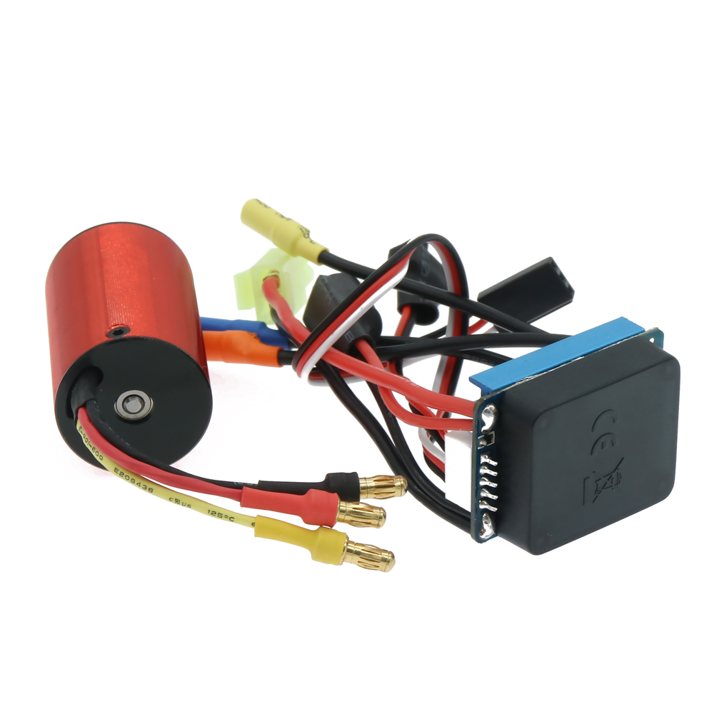 RCAWD 25A Waterproof Esc Electronic Speed Controller+2438 Kv4200 Brushless Motor Inrunner Combo For Rc Hobby Model Car Boat Hsp brushless motor 540 electric inrunner motor for 1 10 rc car boat airplane hsp hi speed wltoys tamiya truck buggy car