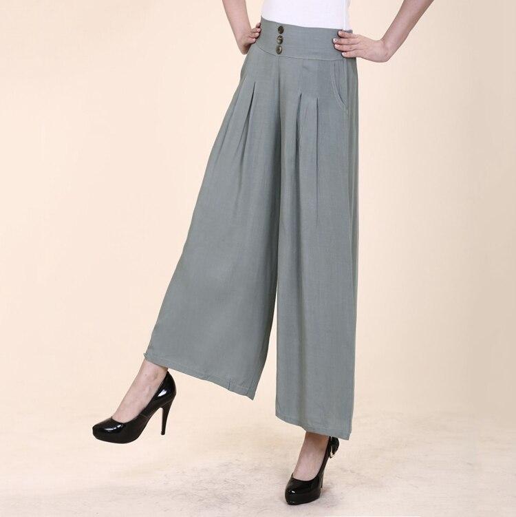 2018 new arrival high waist linen pants women wide legs femme elegant trouse cotton linen fashion summer autumn lady loose pants