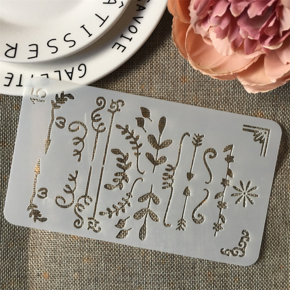 New A6 Geometry Flag 15 DIY Craft Layering Stencils Wall Painting Scrapbooking Stamping Embossing Album Paper Card Template