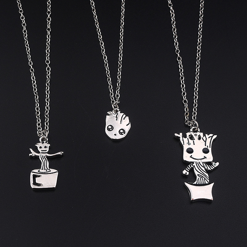 ZXZ Movie Surrounding Jewelry Galaxy Escort Groot Tree Man Grate Baby Necklace Toys For  ...