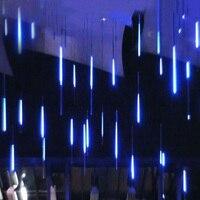 Nowy rok 30/50cm na zewnątrz deszcz meteorów deszcz 8 rur girlanda żarówkowa LED światła wodoodporna dla drzewo boże narodzenie Wedding Party Decoration w Sznur lamp LED od Lampy i oświetlenie na