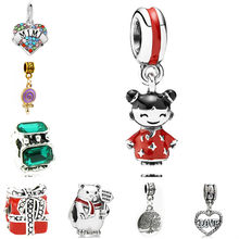 Maxi Crystal Love Heart Life Tree Bear Gift Box Lucky Doll Enamel Pendant Beads Fit Pandora Bracelet Necklaces Femme DIY Jewelry(China)