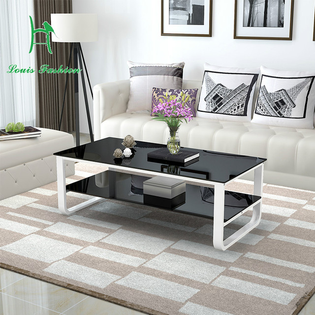Desk In Living Room Apartment Best Colour Paint For 2017 Multifunctional Double Tempered Glass Surface Size Table Simple Modern Layout Creative Small