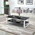 Pintura multifuncional doble tamaño de la superficie de vidrio templado mesa de diseño sencillo y moderno apartamento sala creativa pequeña lámpara de escritorio