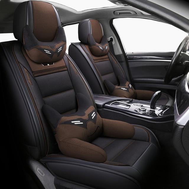 (Vorne + Hinten) leder & Flachs auto sitzbezüge für Chevrolet Onix 2018 2013 durable komfortable sitzbezüge für Onix 2016 captiva,