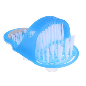 Image 5 - AODMUKI foot scrubber Plastic Bath Massage Slippers Bath Shoes Brush Pumice  Scrubber Remove Dead Skin Foot bathroom accessories