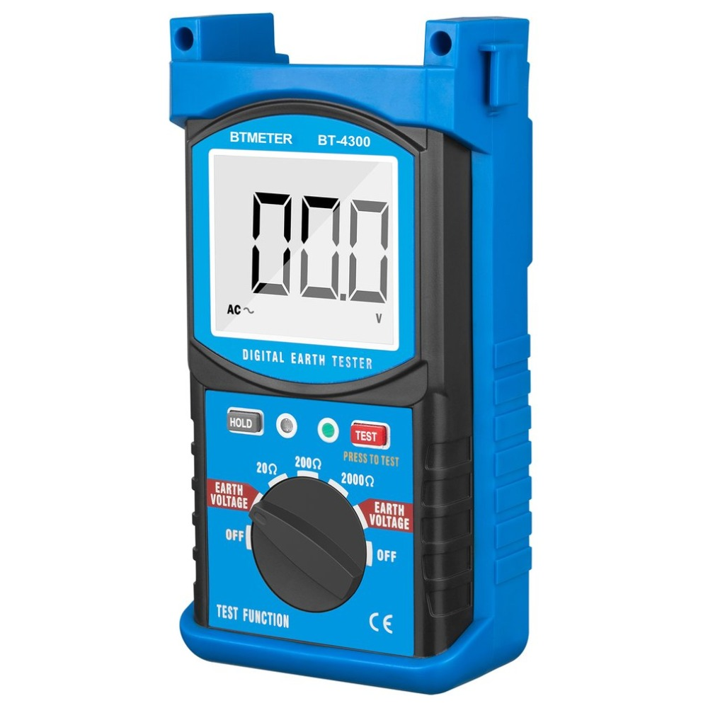 HP-4300 Resistance Tester LCD Digital Earth Ground Resistance Tester Megohm Meter Megger Megohmmeter DC0~200V Voltmeter hot protable 0 01ohm high accuracy digital advanced earth ground resistance clamp meter tester megger megohmmeter mastech ms2301