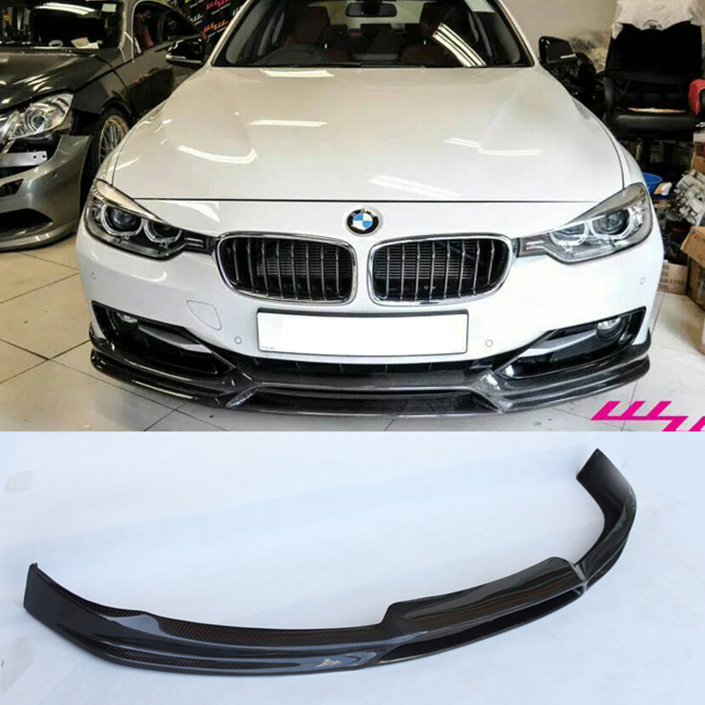 F30 328i 3D Style Carbon Fiber Body Kit Front Bumper Lip for BMW F30 2011-2015 body jewelry