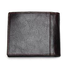 100% Genuine Leather Mens Wallet Premium Product Real Cowhide Wallets For Man Short Black Walet Portefeuille Homme