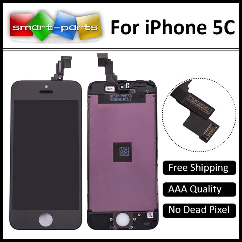Prix pour 10 PCS/LOT PAS de Dead Pixel Qualité AAA LCD Écran Pour Apple iPhone 5c Affichage à L'écran Tactile Digitizer Assemblée Remplacement