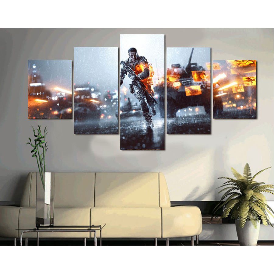 War Tanks 5 Piece Canvas Art Posters And Prints The Paintings For Living Room Wall Art Canvas Painting Decorative Pictures
