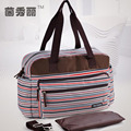 New Style Retro Striped Nappy Changing Bags Fashion Multifunctional Baby Diaper Bag Antimicrobial Mommy Bags For Stroller
