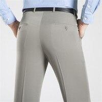ICPANS, деловые мужские брюки, деловой летний костюм, брюки, мужские офисные хлопковые брюки, прямые свободные брюки, большие размеры 40, 42, 44