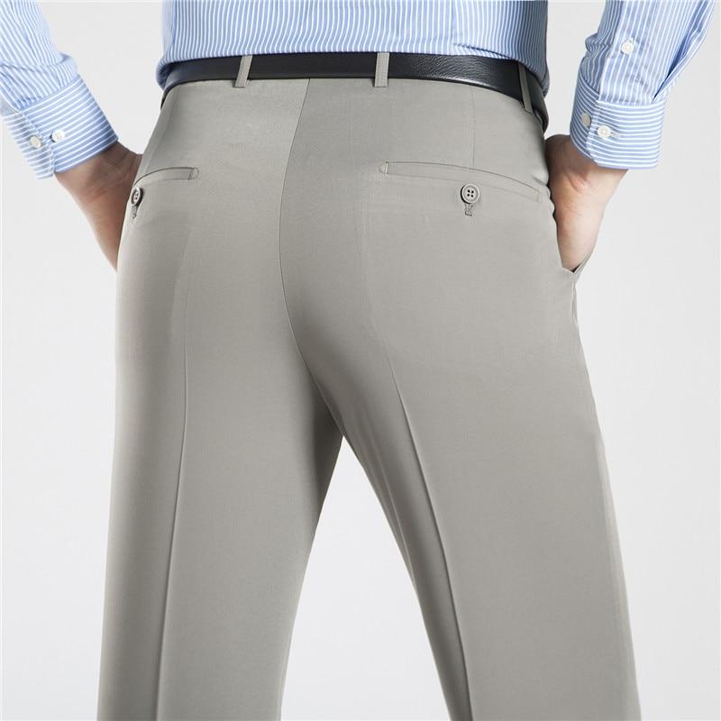 ICPANS Business Mens Trousers Formal  Summer Suit Pants Men Office  Cotton Pants Straight Loose  Dress Pants Big Size 40 42 44