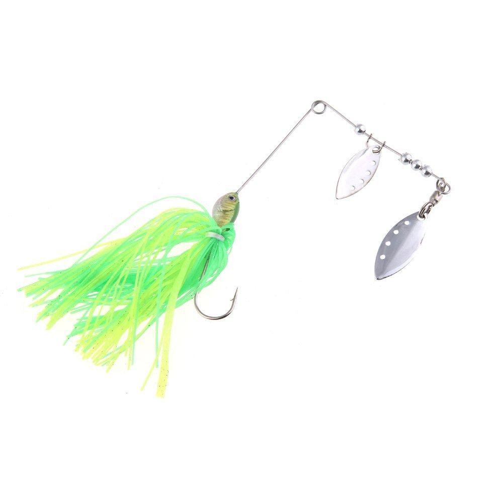 3 Pcs of (12 g hard spinner bait fishing lures (green))